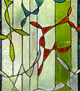 Decorative soldered glass panel